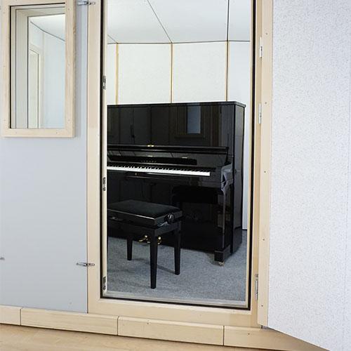 Klavierkabine STUDIOBOX Professional, ausgewogene Innenakustik