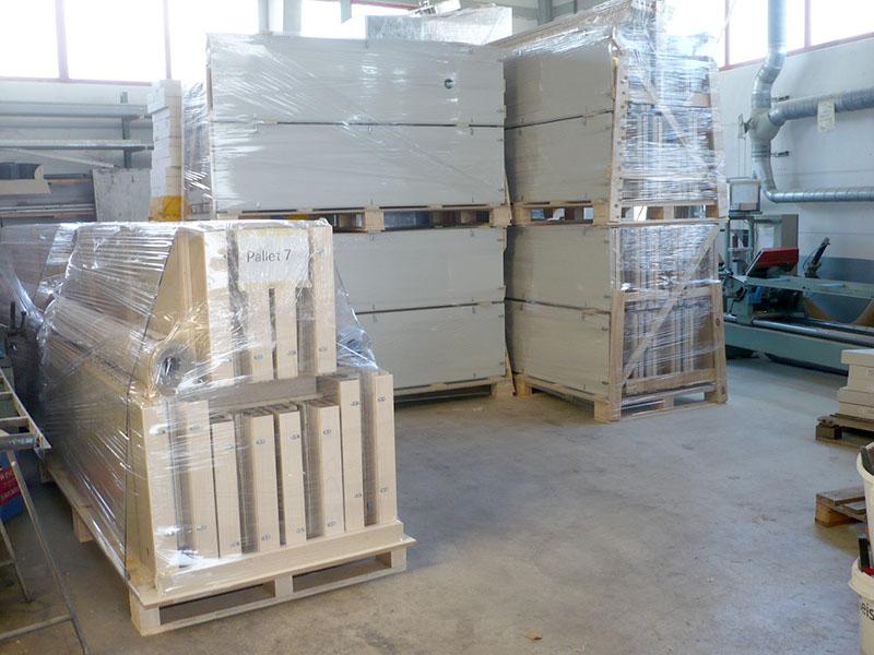 Palettierung STUDIOBOX Akustikelemente